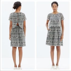 Madewell silk two piece cut out dress in paisley